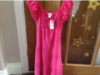 Girls fuschia pink glitterery party dress 12 years new with tag
