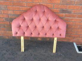 Single bed HEAD BOARD. Dusky pink Valour