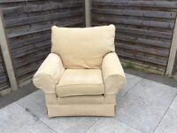 Comfy cream armchair
