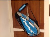 Babolat blue, grey and black tennis racquet cover. Two spacious pockets . As new. Buyer collects