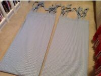 Laura Ashley blue gingham curtains