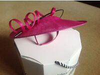 Pink formal hat and bag