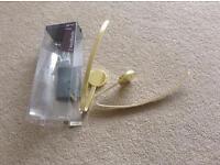 Polished brass finish curtain holdbacks