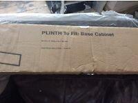 B&Q Santini Black Gloss Plinth
