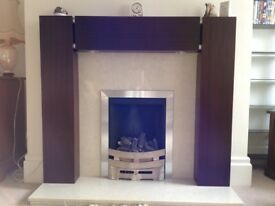 DARK WOOD FIRE SURROUND
