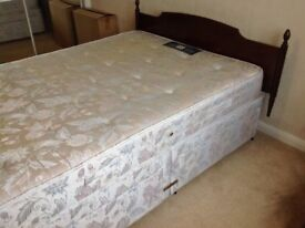 Sealy double Duvan bed with storage