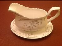 """Royal Albert, bone china, Hazy Dawn pattern, 37 items in total, all in """"as new"""" condition"""