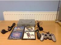 PLAYSTATION 1 BUNDLE- 1 CONTROLLER - 4 GAMES - PLAYS ALSO ISO/PSX GAMES