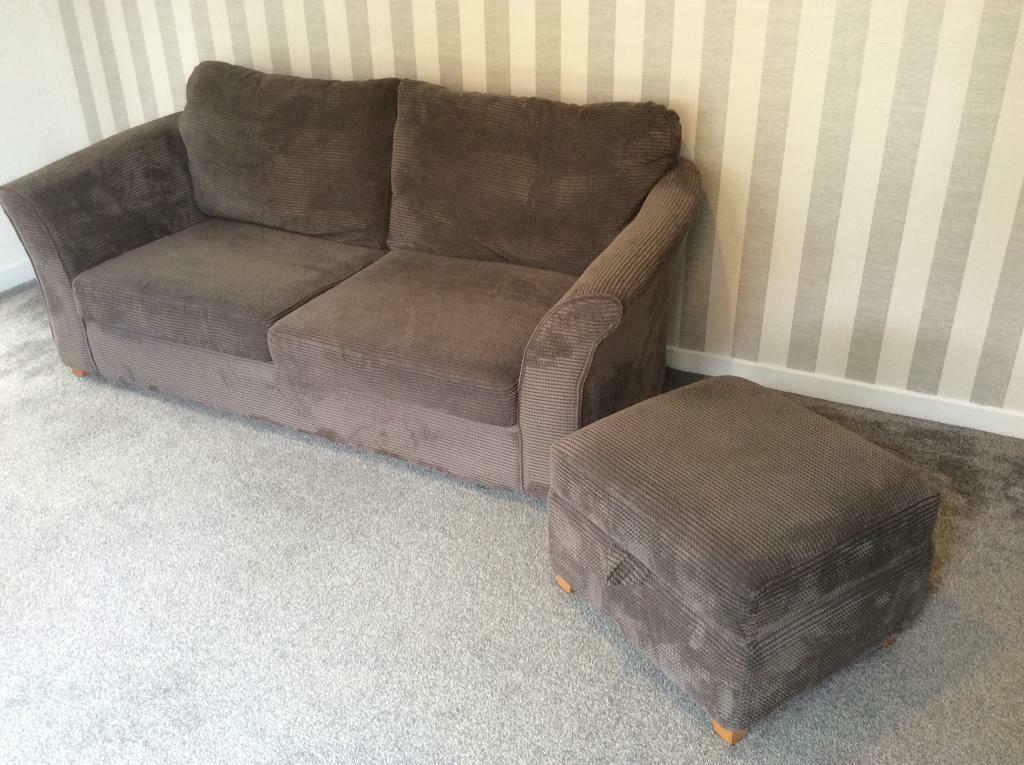 Sofa Bed Cuddle Chair And Stool In