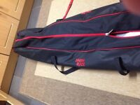 SKI BAG for two pairs of skis and plenty of room for clothes ,on wheels easy to use only used once