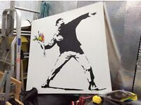 Banksy canvas 30 inches x 30