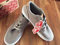 Vans size 4, Grey Winston Canvas shoes.