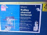 B&Q Miami Trolley Charcoal Barbecue- Materials