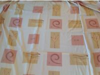 Large curtains with pelmet.