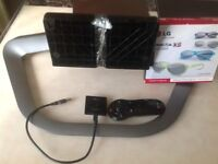 Lg tv stand ,magic remote,dongle and 3D glasses