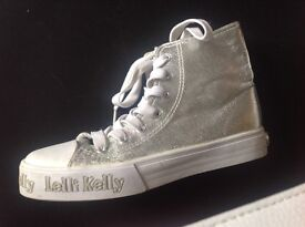 Lelia Kelly Silver Ankle Style trainers size 35