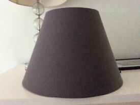 Grey new large lampshade