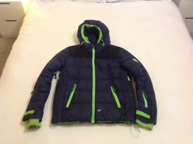 Superdry Snow Jacket in Navy and Neon Green