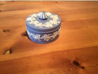 Wedgwood Jasperware Covered Candy/Trinket Dish
