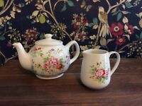 Cath Kidson teapot and milk jug