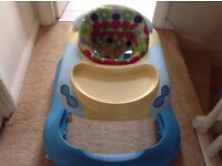 Baby walker hardly used. Bought for grandson. Needs new loving home.