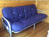 Double sofa bed in blue