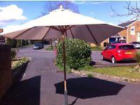 Large cream parasol