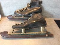Old ice skates - antiques