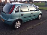 Quick sale,excellent corsa full year mot ,service history only £795