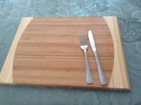 Large solid wood chopping board used once