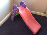 Pink toddler slide