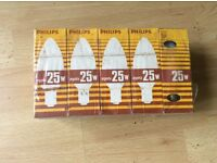25w old Philips lamp 1970's / 80's pack of 10