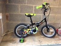 """Boys Ben 10 bike/bicycle 12"""" with stabilisers and matching helmet"""