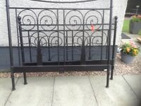 Double bed frame,metal,£35.00
