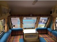 Retro refurbished Bailey 2 berth with motor mover