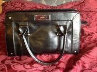 Black moc croc bag medium size stain on inside silver logo to front and studs