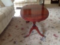 . Beresford and Hicks oval mahogany coffee table in very good condition.