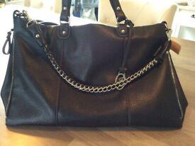 Ladies black tote handbag