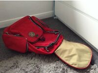KIPLING red trolley case / backpack very good condition