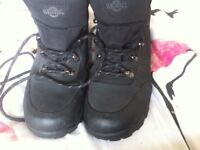 Northwest territory ladies black waterproof walking boots size 4 / 5