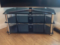 Glass TV table/stand. Excellent condition. £20