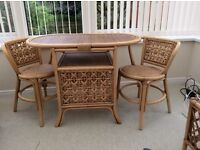 Conservatory furniture table and 2 chairs