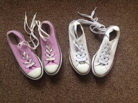 Girls All Star Converse Pumps x 2