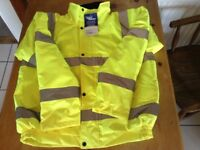 Hi viz bomber jacket. Brand new with label. Portwest. Large 108-112cm