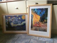 Framed Van Gogh prints pictures