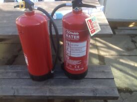 2 x Chubb Fire Extinguishers Water Filled