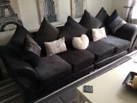 Large sofa in black & gray