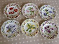 Wedgwood floral plates