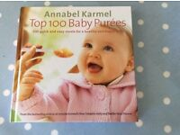 Annabel Karmel top 100 baby purees book, excellent condition with 100 great recipes