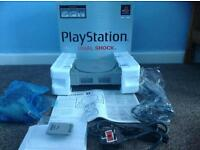 Boxed ps1 console